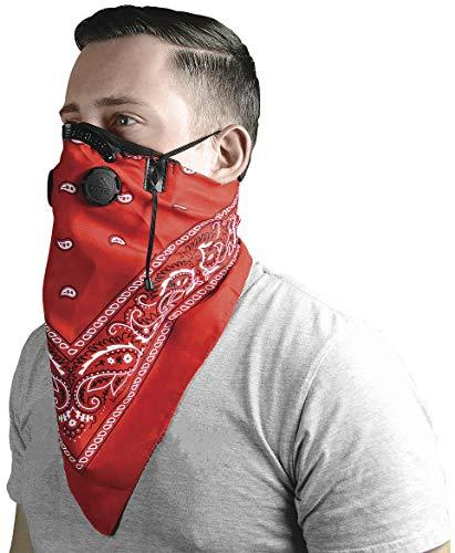 Atv/Utv Tek Pro Bandana Dust Mask Red Bdmred New