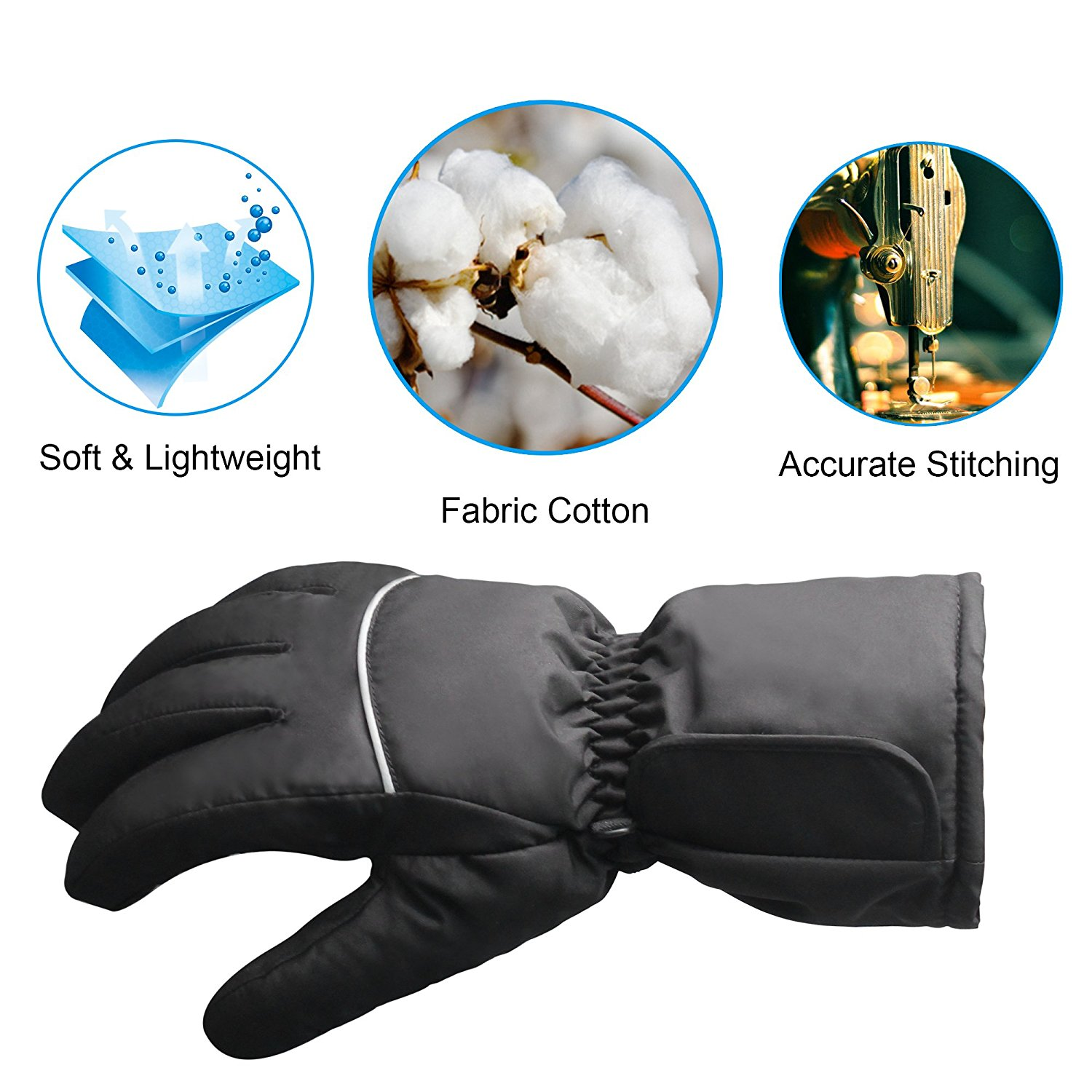Autocastle Electric Heated Gloves for Touchscreens ...