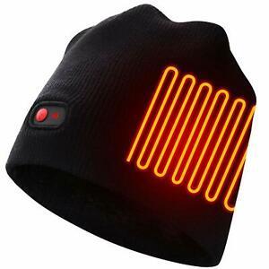 Autocastle Men Women Rechargeable Electric Warm Heated Hat ...
