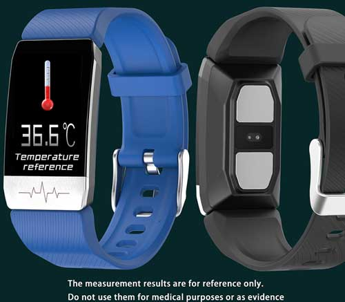 Bakeey T1 Smartwatch – Features Thermometer and ECG Sensor ...