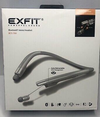 BCS-700 Wireless Bluetooth Headphones Neckbands with ( Silver)