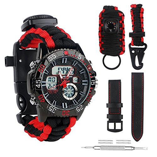 BlueStraw Men Women Survival Analog Digital Watch ...