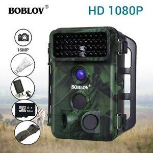 Boblov 1080P 16MP 16GB Trail Security Hunting Camera With ...