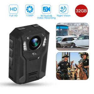 BOBLOV 1296P Body Worn Camera 32GB Night Vision for ...