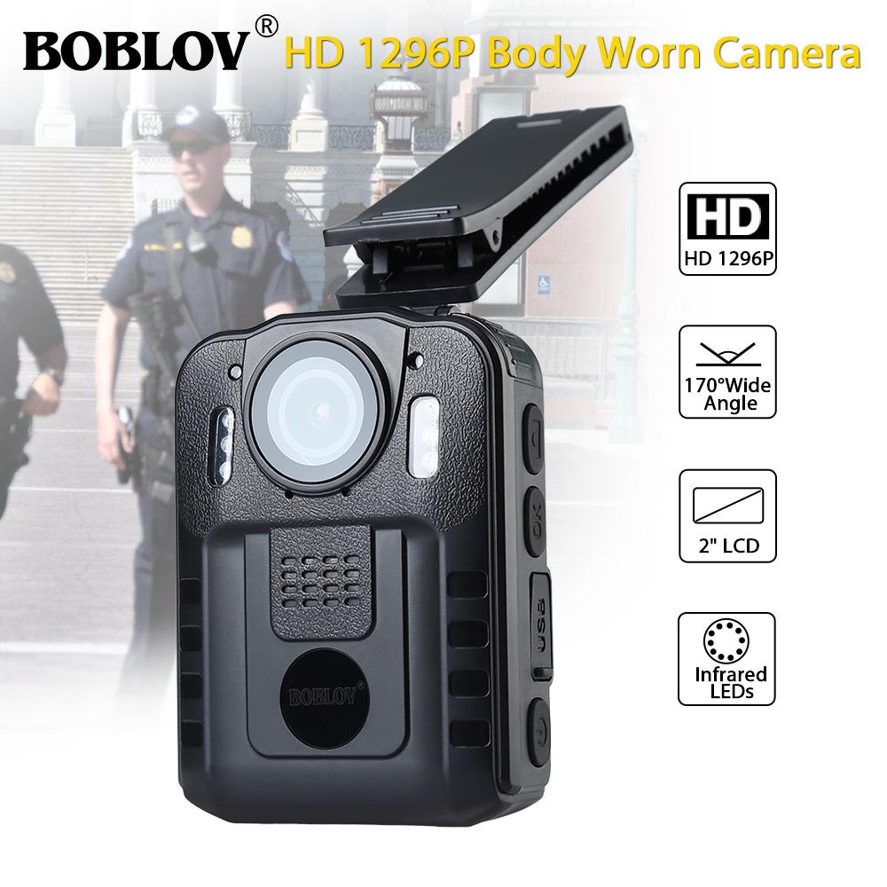 Boblov 1296P FHD Police Body Camera Action Cam Video ...