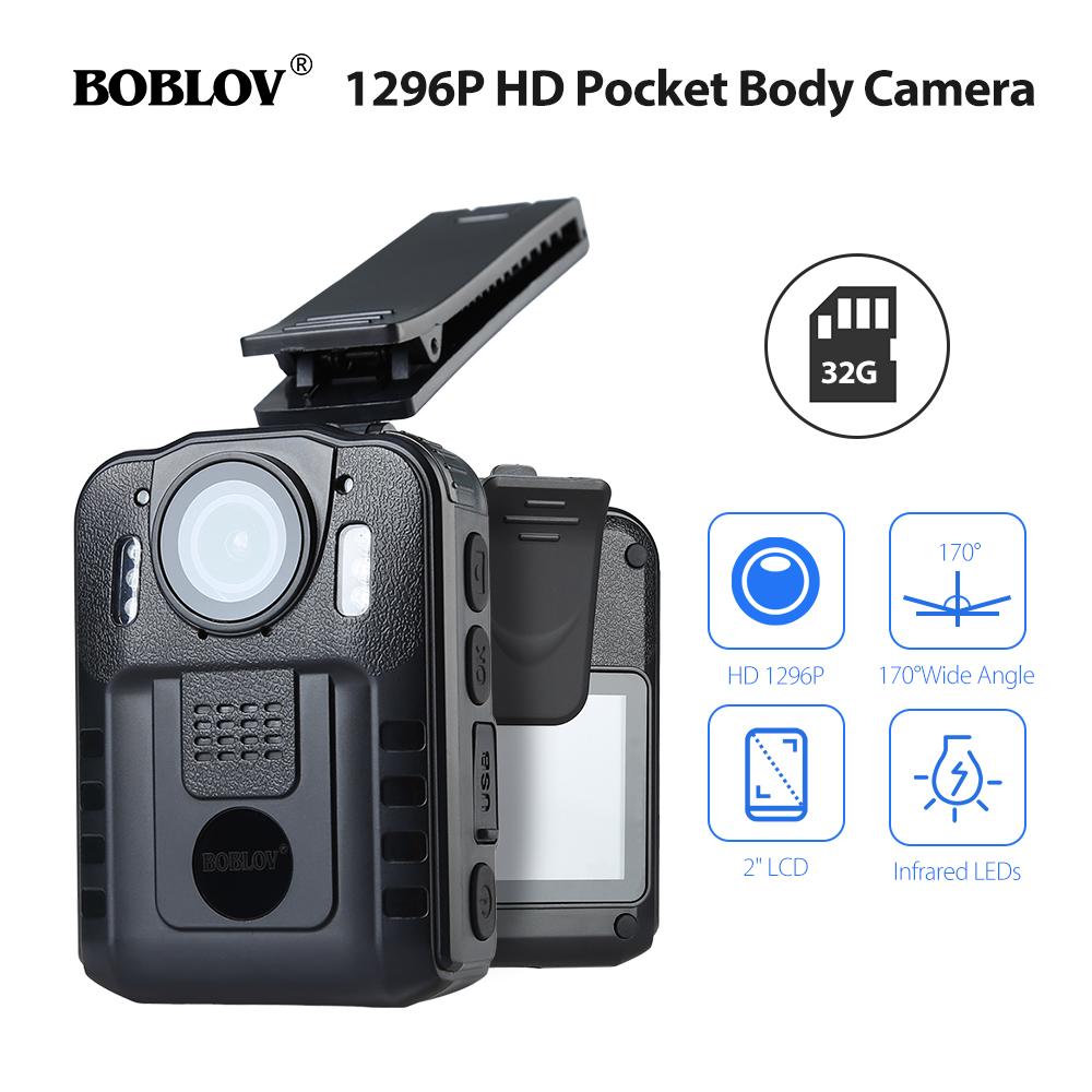 Boblov Mini 1296P FHD Body Police Security Camera 32GB ...