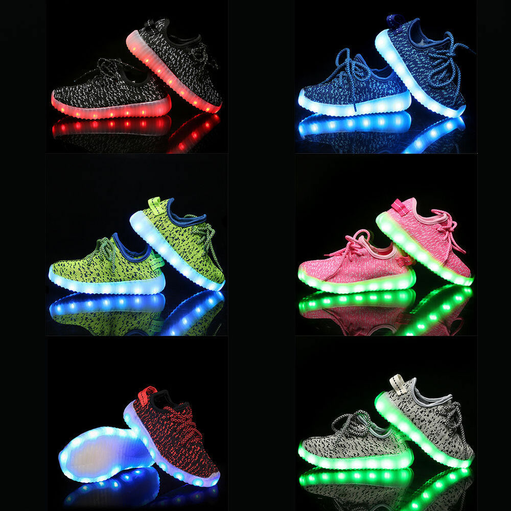 Boy Girl Upgraded USB Charging LED Light Shoes for Kids ...