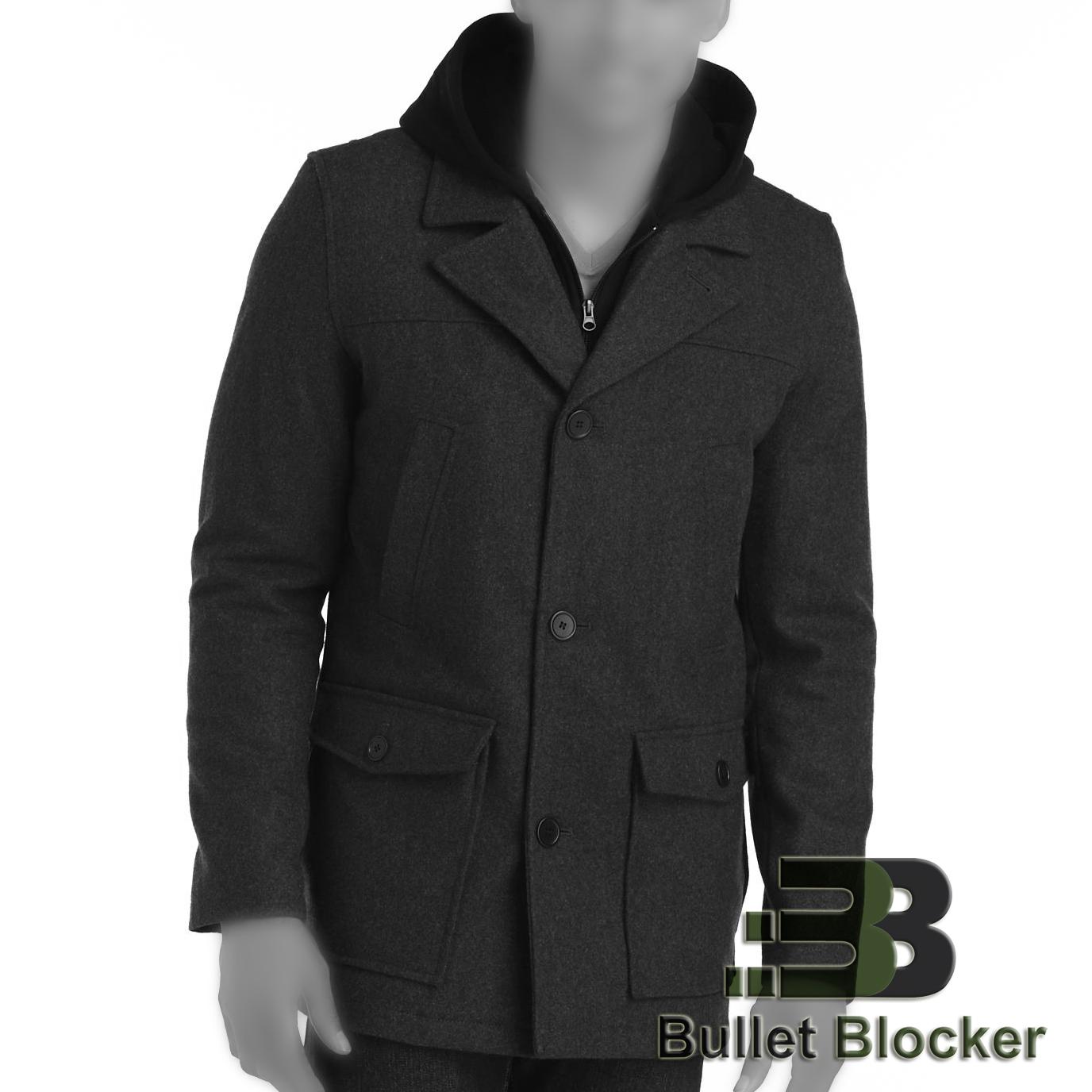 BulletBlocker | Bulletproof Wool Hooded Coat