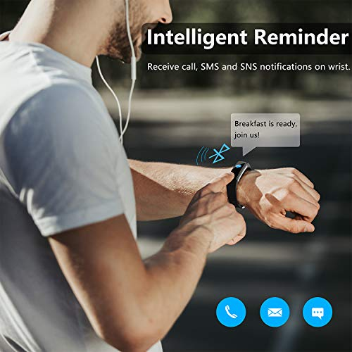 Buy Akasma Fitness Tracker HR, S5 Activity Tracker Watch ...