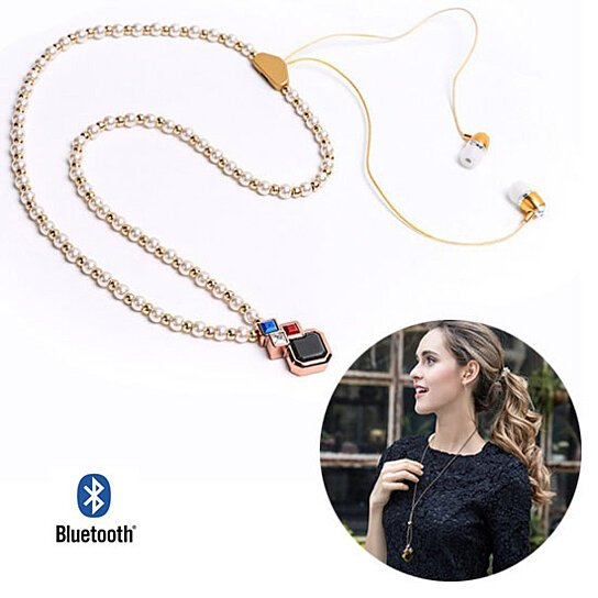 Buy PLAY PEARLS Bluetooth Headset Necklace by Vista Shops ...