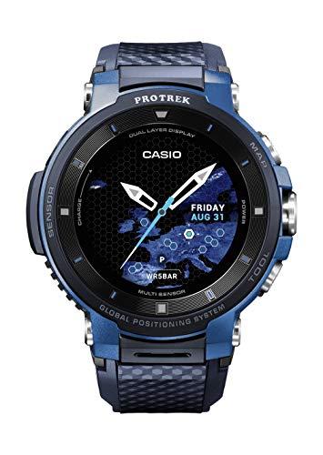 Casio Pro Trek Touchscreen Outdoor Smart Watch Resin Strap, Blue, 27 (Model: WSD-F30-BUCAU)