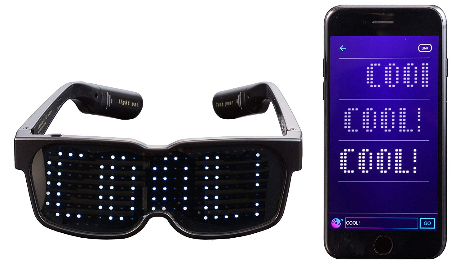 CHEMION - Customizable Bluetooth LED Glasses for Raves ...