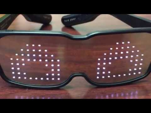 CHEMION - Unique Bluetooth LED Glasses - YouTube