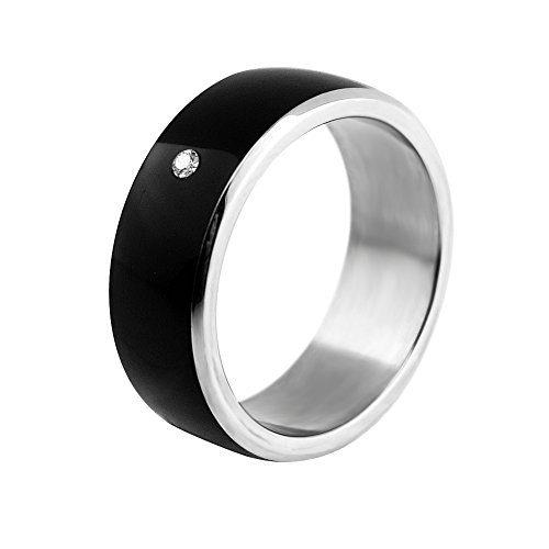 ChiTronic Newest Magic Smart Ring Universal For All Android Windows NFC Cellphone Mobile Phones,Black,Ring Size #8