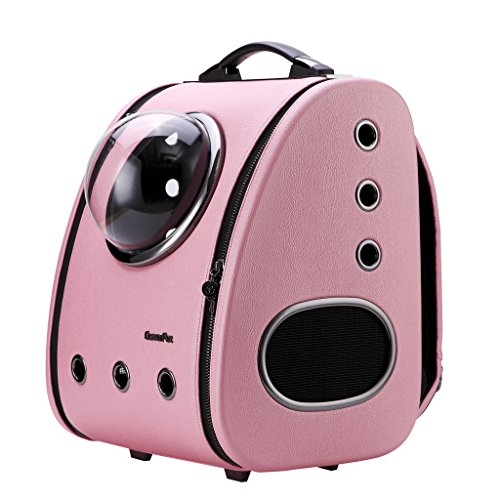 CLOVERPET C0101 Innovative Fashion Bubble Pet Travel Carrier Backpack for Cats Dogs Puppy, Pink