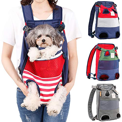 Coppthinktu Dog Carrier Backpack - RED/BLUE STRIPE