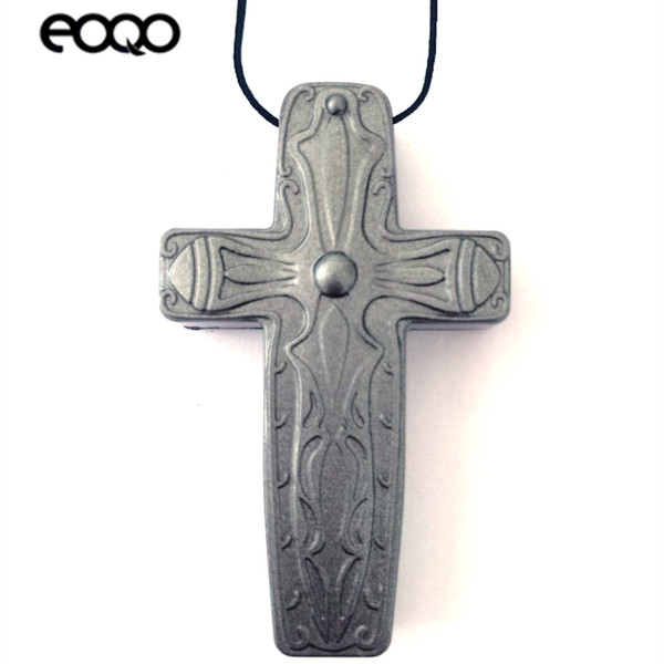 Audio Recording cross necklace