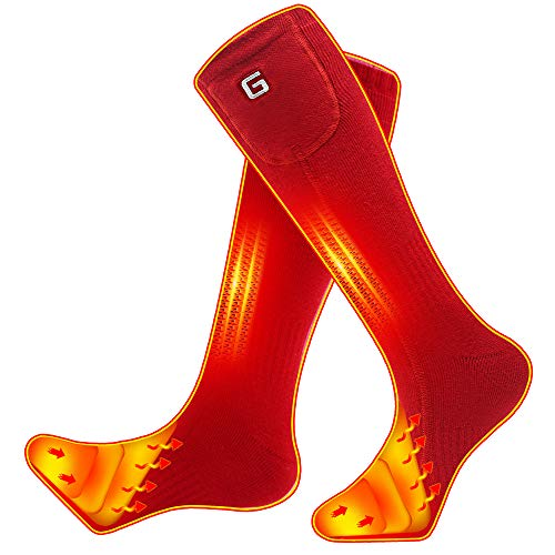 Daintymuse Battery Heated Socks - RED