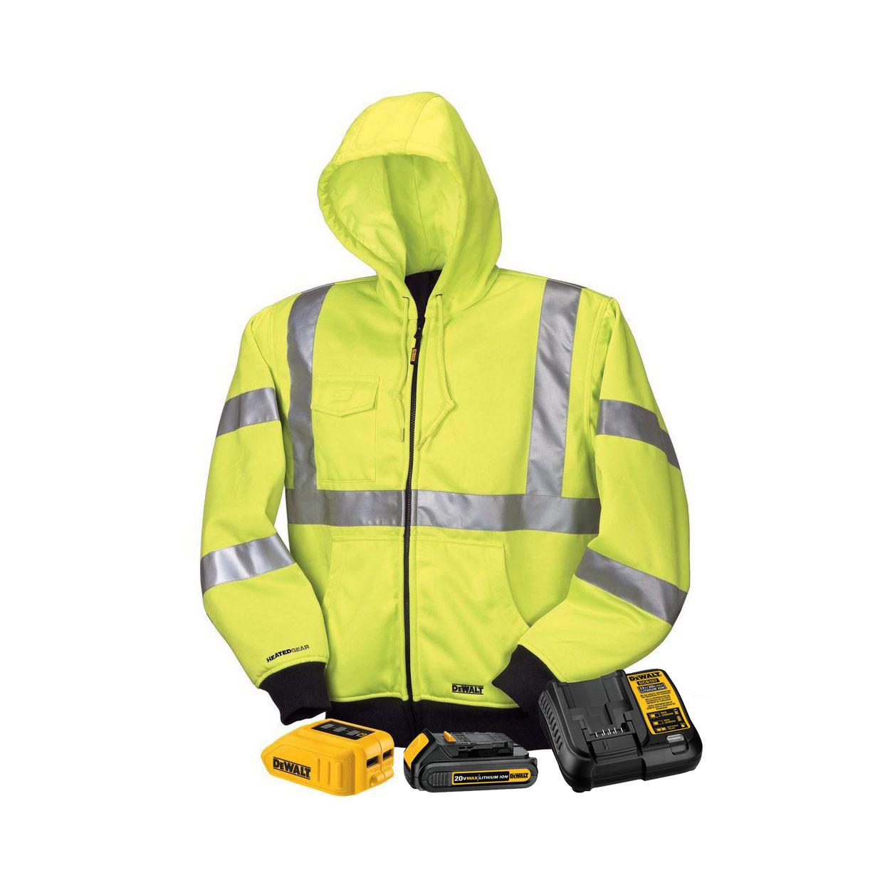 DeWALT DCHJ071C1 Unisex Yellow High Visibility MAX Heated ...