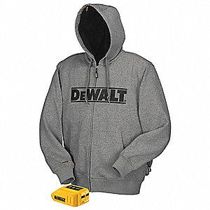 DEWALT Heated Hoodie, L, Men's, Gray - 31AD02|DCHJ068B-L ...