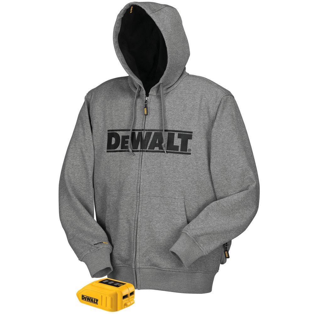 DEWALT Unisex X-Large Gray 20-Volt MAX Heated Hoodie ...