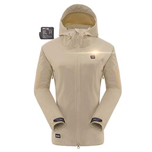 DEWBU Heated Soft Shell Jacket - WOMEN'S BEIGE