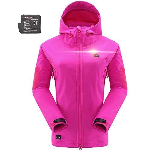 DEWBU Heated Soft Shell Jacket - ROSE RED
