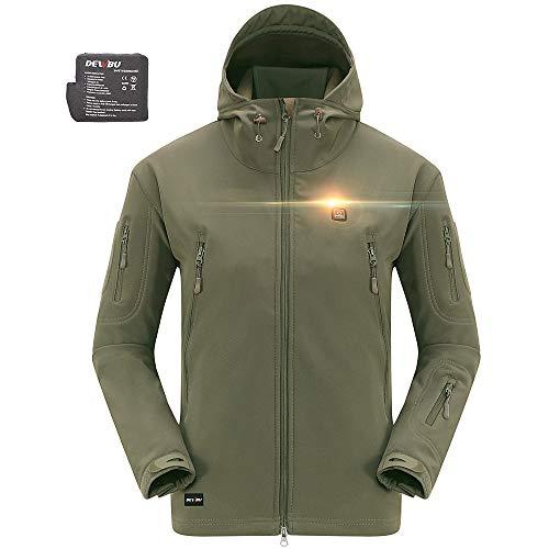 DEWBU Heated Soft Shell Jacket - ARMY GREEN