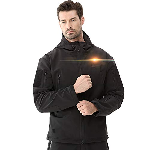 DEWBU Heated Soft Shell Jacket - MEN'S BLACK
