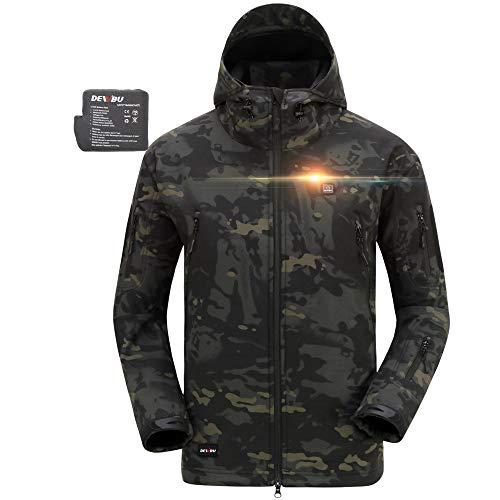 DEWBU Heated Soft Shell Jacket - CP BLACK