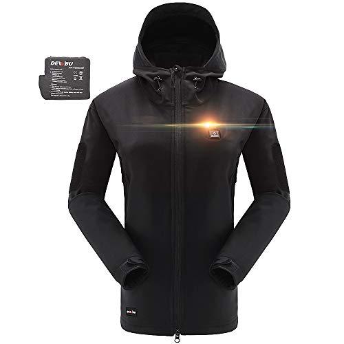 DEWBU Heated Soft Shell Jacket - WOMEN'S BLACK