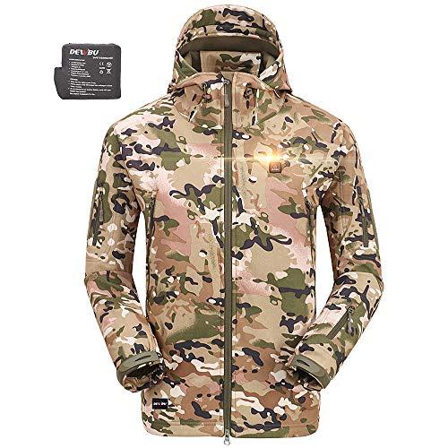 DEWBU Heated Soft Shell Jacket - MEN'S CAMO