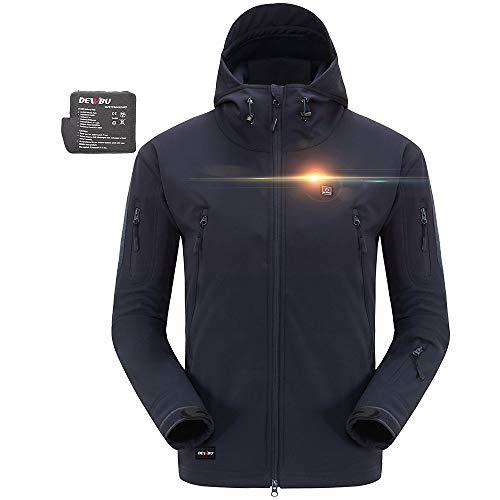 DEWBU Heated Soft Shell Jacket - HIDDEN BLUE