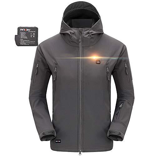 DEWBU Heated Soft Shell Jacket - GREY