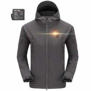 DEWBU Men's Soft Shell Heated Jacket with Battery Pack DB ...