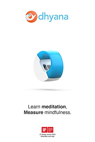 Dhyana - Meditation, Mindfulness, Smart Ring, Guided Meditation, Productivity, Zen (Colour: Light Blue)