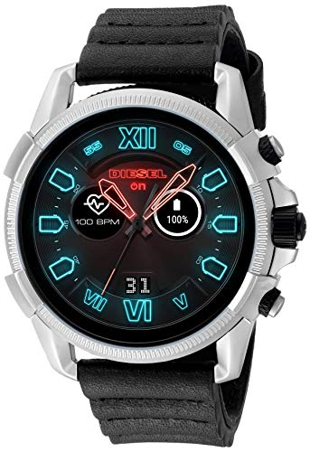 Diesel Men's Watch with Silicone Band Strap, Black, 22 (Model: DZT2008)