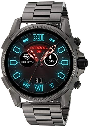 Diesel Men's Watch with Stainless-Steel-Plated Strap, Grey, 22 (Model: DZT2011)
