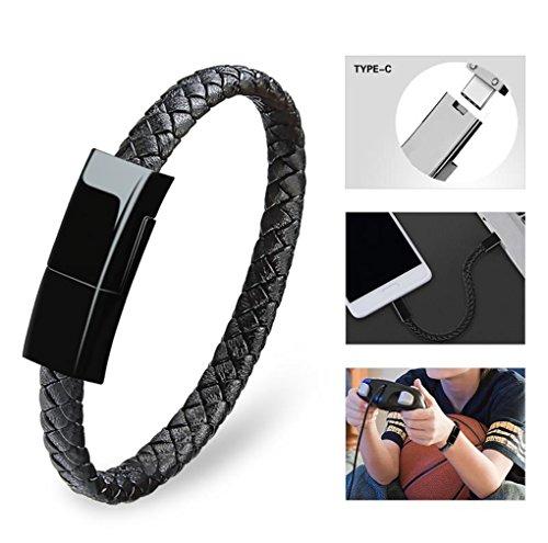Dzzkoye USB Type C Cable Bracelet - BLACK SM