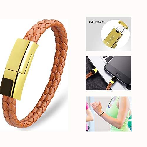 Dzzkoye USB Type C Cable Bracelet - BROWN