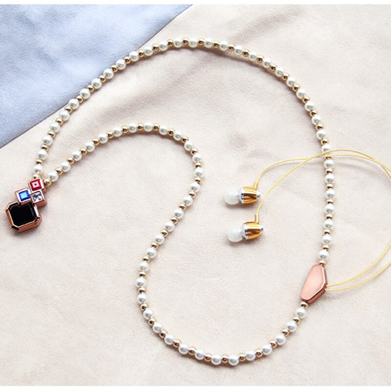 Fashion New 2 in 1 pearl necklace wireless headset jewelry ...