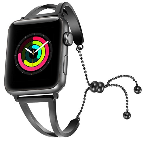 fastgo Bracelet for Apple Watch Band (Black-38mm 40mm)