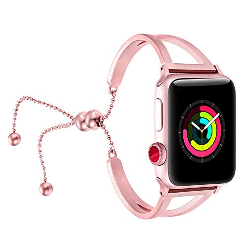 fastgo Bracelet for Apple Watch Band (Rose Pink-38mm 40mm)