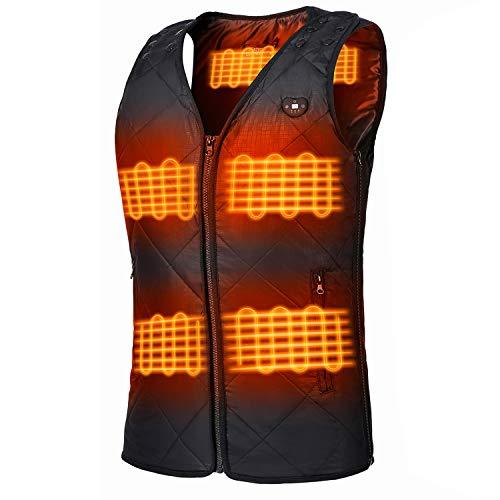 FERNIDA Unisex Heated Vest - BLACK
