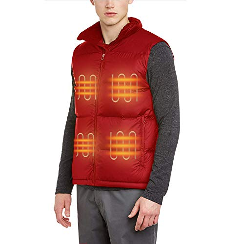 FERNIDA Unisex Heated Vest - RED