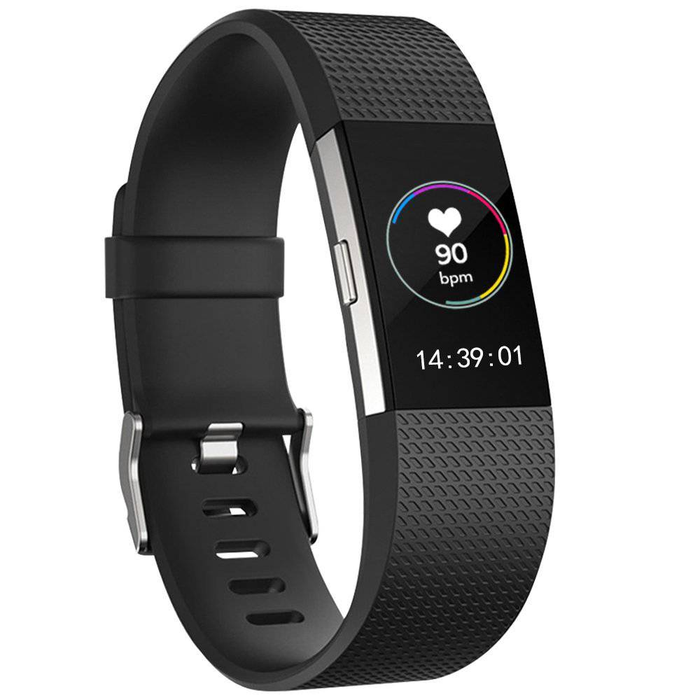 Fitbit charge 2 sport band - black - 123Watches