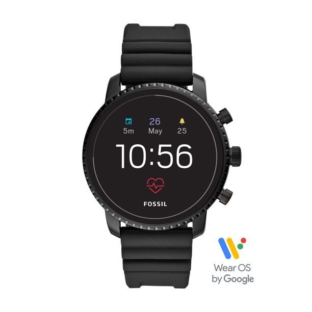 Fossil Gen 4 Explorist HR Men's Smartwatch - Black Silicone - Powered with Wear OS by Google
