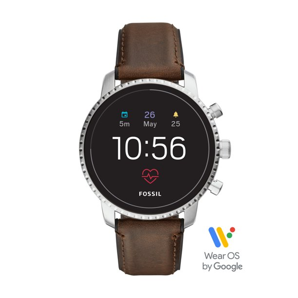 Fossil Gen 4 Explorist HR Men's Smartwatch - Brown Leather - Powered with Wear OS by Google™