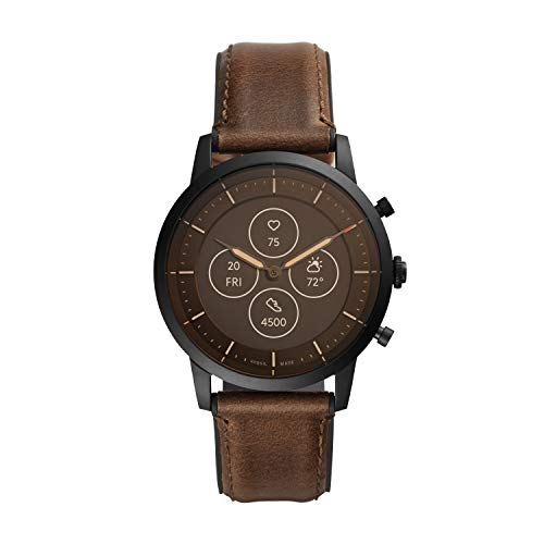 Fossil Hybrid HR Collider - Black, Brown - Leather (FTW7008)