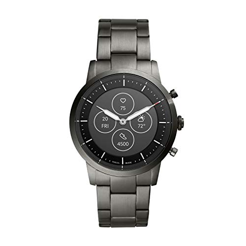 Fossil Hybrid HR Collider - Smoke - Stainless Steel (FTW7009)